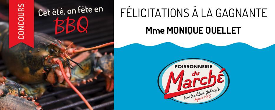 Félicitations à la Gagnante! Monique Ouellet