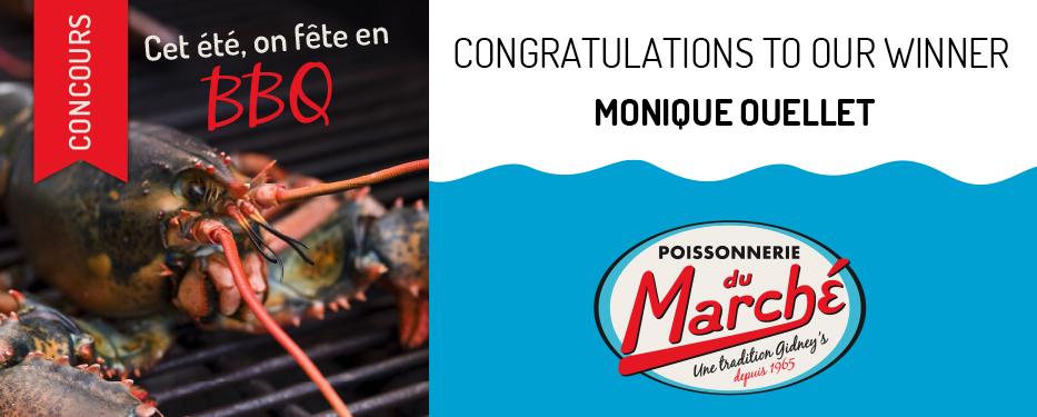 Congratulations to our winner – Monique Ouellet